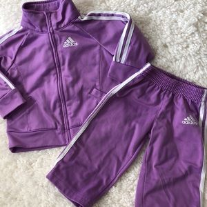Adidas matching jumpsuit for baby girl